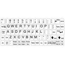 Stickers voor toetsenbord - grote set - witte achtergrond
