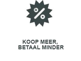 KOOP MEER, BETAAL MINDER